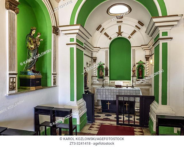 Santa Barbara Chapel, interior, Santa Cruz da Barra Fort, Niteroi, State of Rio de Janeiro, Brazil