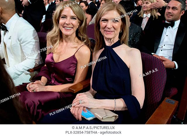 Academy CEO Dawn Hudson (right) and guest during the live ABC Telecast of The 88th Oscars® at the Dolby® Theatre in Hollywood, CA on Sunday, February 28, 2016