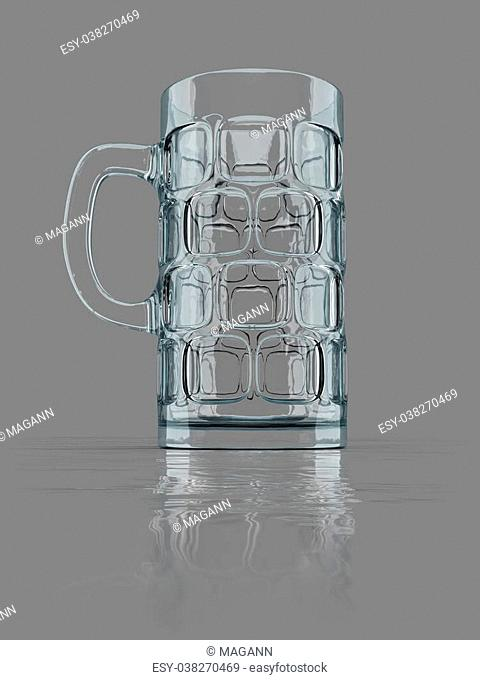 An image of a typical bavarian big beer glass