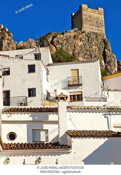Castle keep, Zahara de la Sierra, Parque Natural, Natural Park Sierra de Grazalema, White Towns, Pueblos Blancos, Cadiz province, Andalusia, Spain, Europe