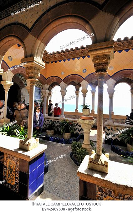 Maricel Palace, built in 1910 commissioned by the American millionaire Charles Deering 1852-1927. The palace rises over a set of fishermen's houses that...
