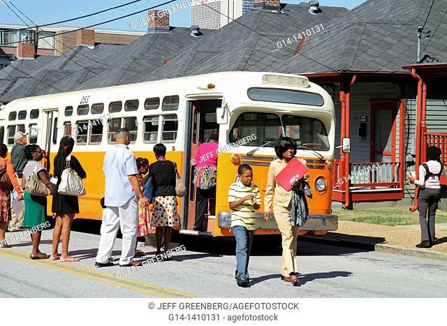 Georgia, Atlanta, Auburn Avenue, Martin Luther King Jr  NHS, National Historic Site, history, civil rights movement, segregation, shotgun house, preservation