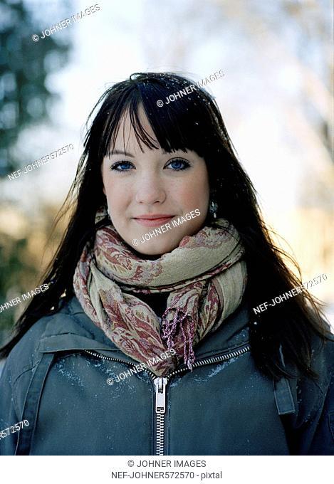 Portrait of a teenage girl, Sweden