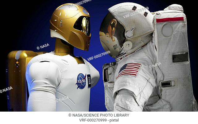Robonaut 2 and astronaut. Robonaut 2 is a humanoid robot that is being developed by NASA and General Motors to take the place of astronauts during...