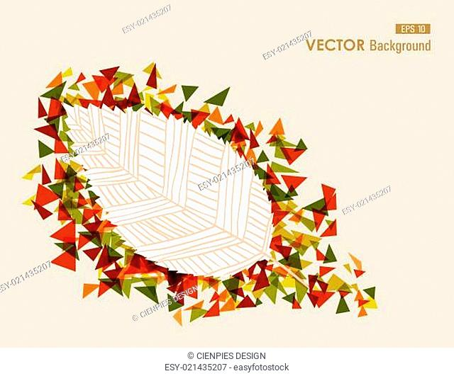 Abstract hand drawn leaf illustration autumn concept. EPS10 file
