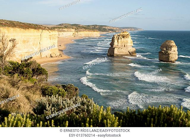 The Twelve Apostles is a set of cliffs located on the southern coast of Australia, Port Campbell National Park. . The site is accessed from Melbourne along the...