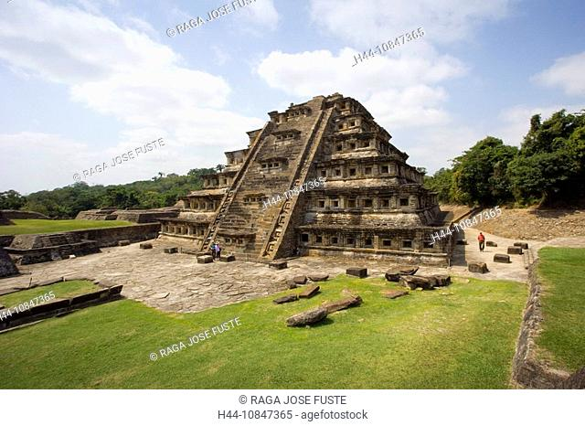 Mexico, Central America, America, Veracruz State, El Tajin, UNESCO, World heritage site, pyramid of the niches, South