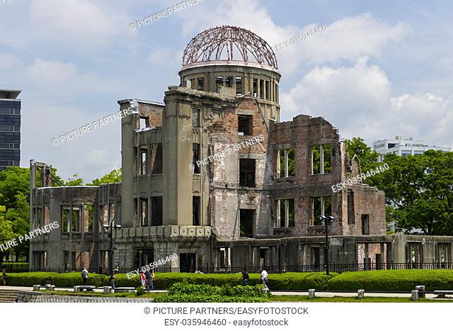 Hiroshima, Japan, The skeletal ruins of the former Hiroshima Prefectural Industrial Promotion Hall, the A-Bomb Dome
