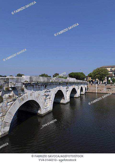Tiberius Bridge, Rimini, Emilia Romagna, Italy