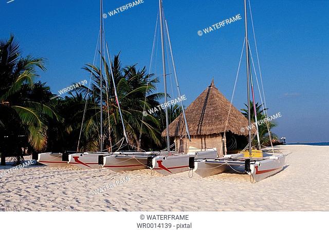 Watersports-Center at Beach, Indian Ocean, Maldives Island