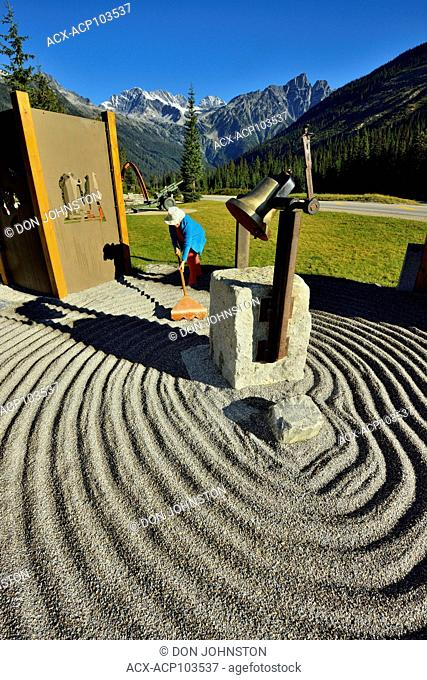 Trans Canada Highway Memory Garden for highway workers at Rogers Pass, Glacier National Park, British Columbia, Canada