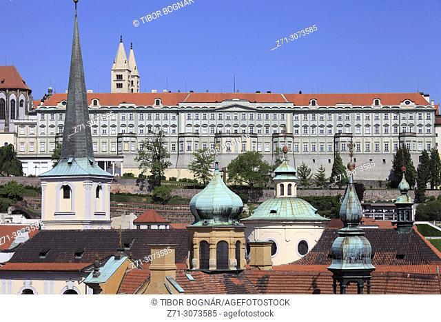 Czech Republic, Prague, skyline, Lesser Town, Mala Strana, Castle,