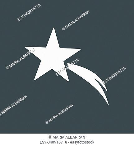 Christmas star icon on black background. Vector illustration