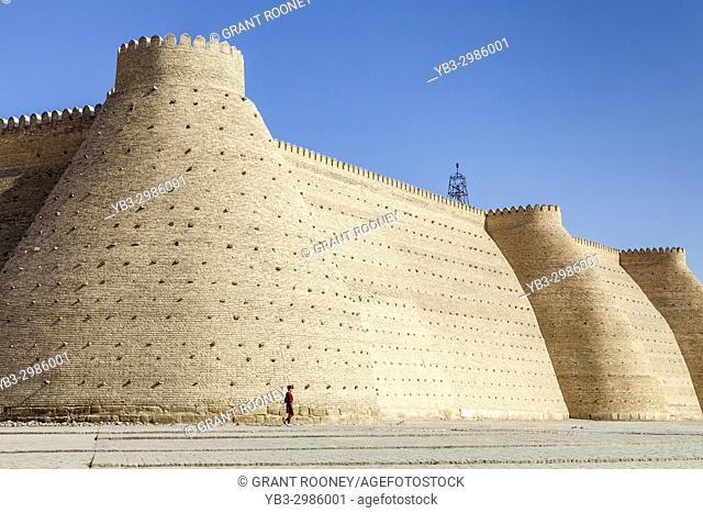 The Ark Fortress Walls, Bukhara, Uzbekistan