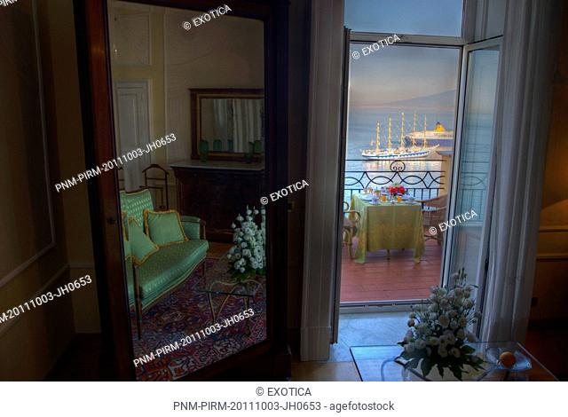 Interiors of a hotel room, Sorrento, Campania, Italy
