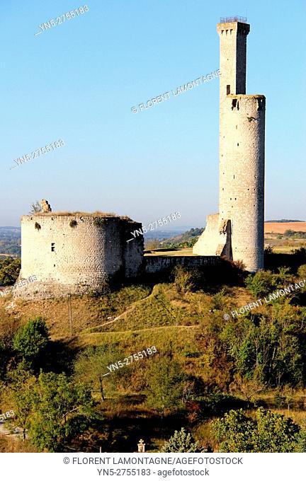 Tower of castle of Castelnau de Levis, Tarn, Occitanie