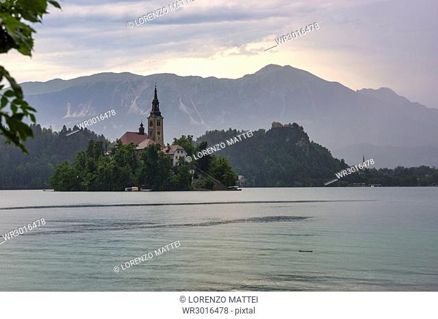 Bled Island and Church of the Assumption of Maria, Bled, Slovenia, Europe
