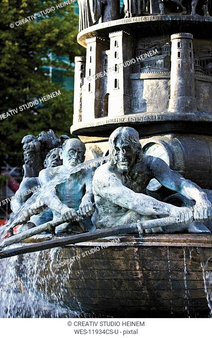 Germany, Rhineland-Palatinate, Koblenz, Historiensaeule, Goerres Square