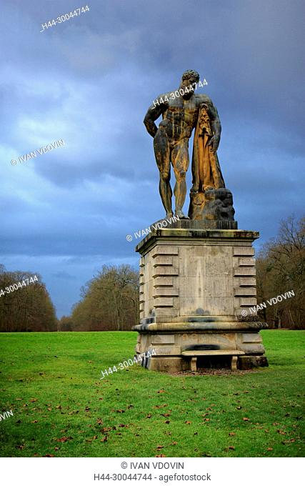 Statue of Heracles in the park, Vaux-le-Vicomte, France