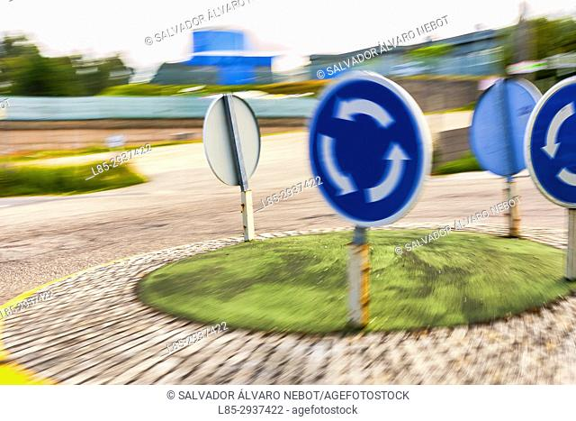 Traffic signs, Vigo, Spain, Europe