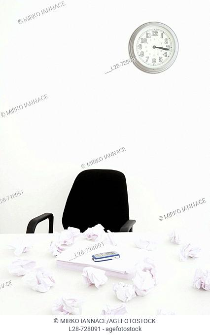 documents on desk