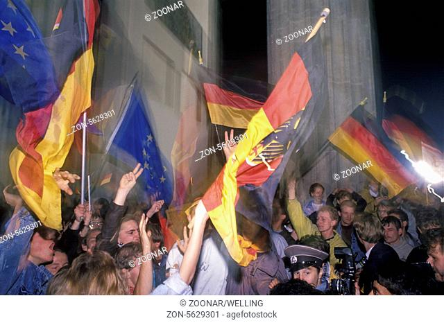 Berlin celebrating reunion 1990