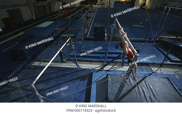 WS Girl 12-13 performing gymnastics / Lindon, Utah, USA