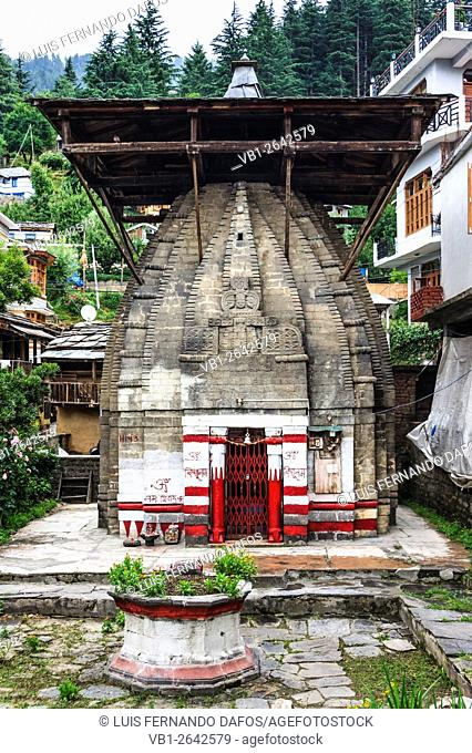 Vishnu temple in Naggar, Himachal Pradesh, India