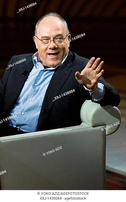15 05 2011, Milan, Telecast RAI 3 'Che tempo che fa'  Carlo Verdone
