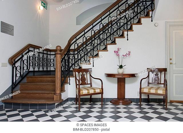 Staircase in an Elegant Hall