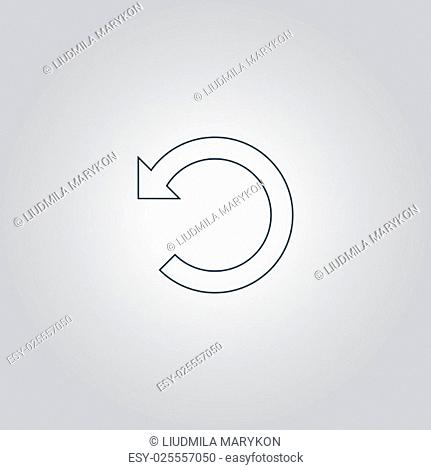 Rotation Arrow. Flat web icon or sign isolated on grey background. Collection modern trend concept design style vector illustration symbol