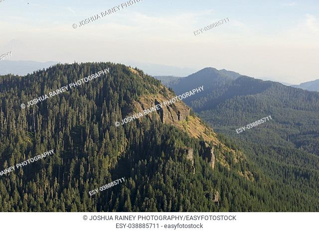 Volcanic rocks make up the top of Iron Mountain in Oregon