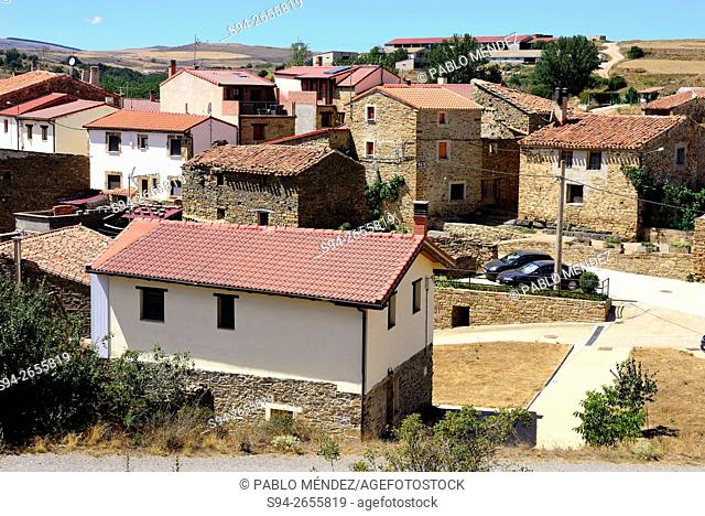 View of the town, Ventosa de San Pedro, Soria, Spain