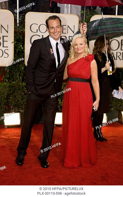 Actors Will Arnett and Amy Poehler arrives at the 67th Annual Golden Globe Awards at the Beverly Hilton in Beverly Hills, CA Sunday, January 17, 2010