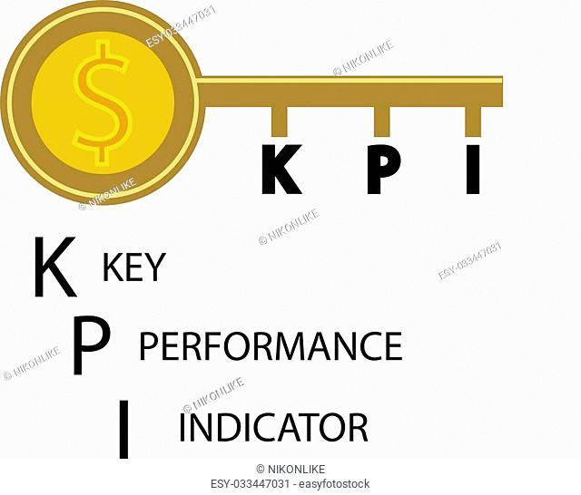 key performance indicator target illustration design over a white background