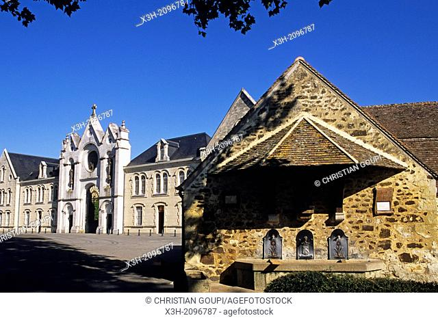 La Trappe Abbey at Soligny-la-Trappe, Regional Natural Park of Perche, Orne department, Lower Normandy region, France, Western Europe