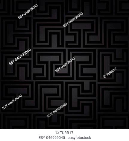 Seamless geometric pattern for your designs and backgrpounds. Modern vector dark ornament with repeating elements