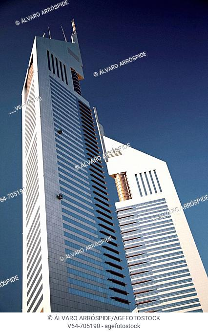 Emirates Towers, Satwa district, Dubai City. UAE (United Arab Emirates)