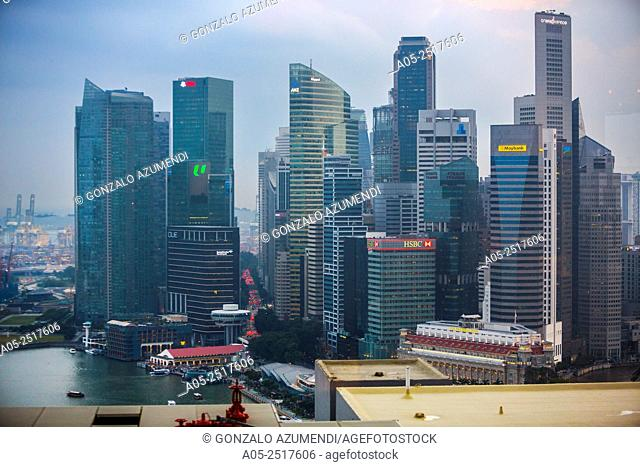 Marina Bay. Central Business District . City Skyline. Singapore. Asia