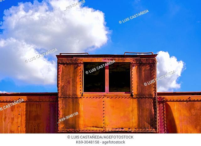 Cabin. Old Railroad Wagon. Miami. Florida. USA