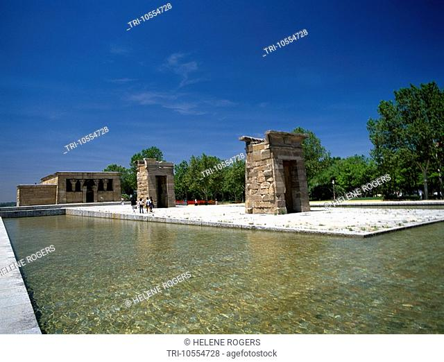 Madrid Spain Temple Of Debod 2nd Century BC Given By Egypt To Spain 1968
