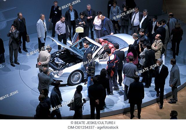 Car, IAA 2001, Frankfurt, Exhibition Mercedes, SL 55 AMG