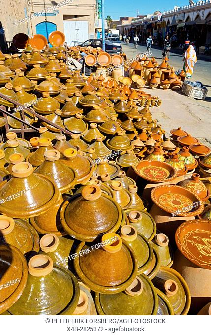 Earthenware tajine pots, Medina, Tiznit, Morocco