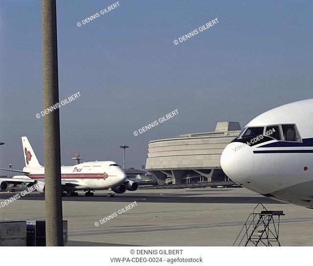 CHARLES DE GAULLE AIRPORT, PARIS, FRANCE, Architect PAUL ANDREU