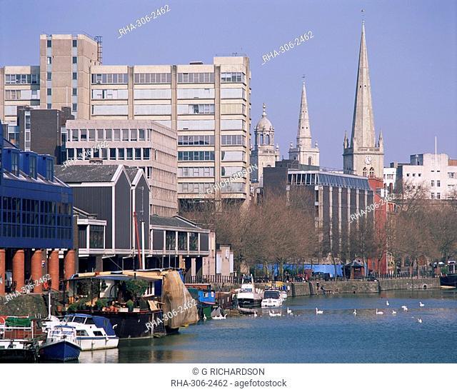 City and River Avon, Bristol, Avon, England, United Kingdom, Europe