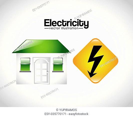 electricity concept design, vector illustration eps10 graphic