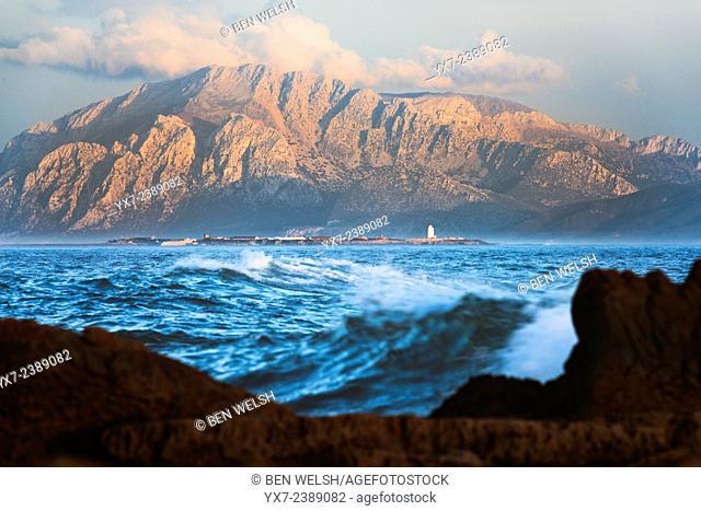 Straits of Gibraltar. Tarifa, Cadiz, Costa de la Luz, Andalusia, Spain