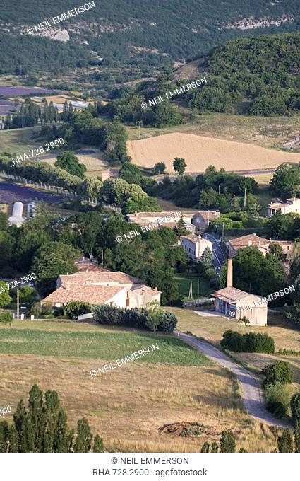 Fields at Sault, Luberon, France