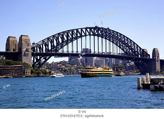 The Harbour Bridge viewed from Circular Quay, Sydney, Australia