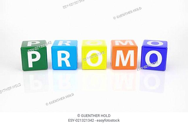 Promo out of multicolored Letter Dices